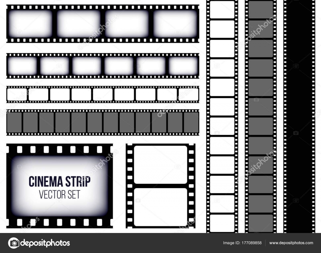creative vector illustration of old retro film strip frame set, Powerpoint templates
