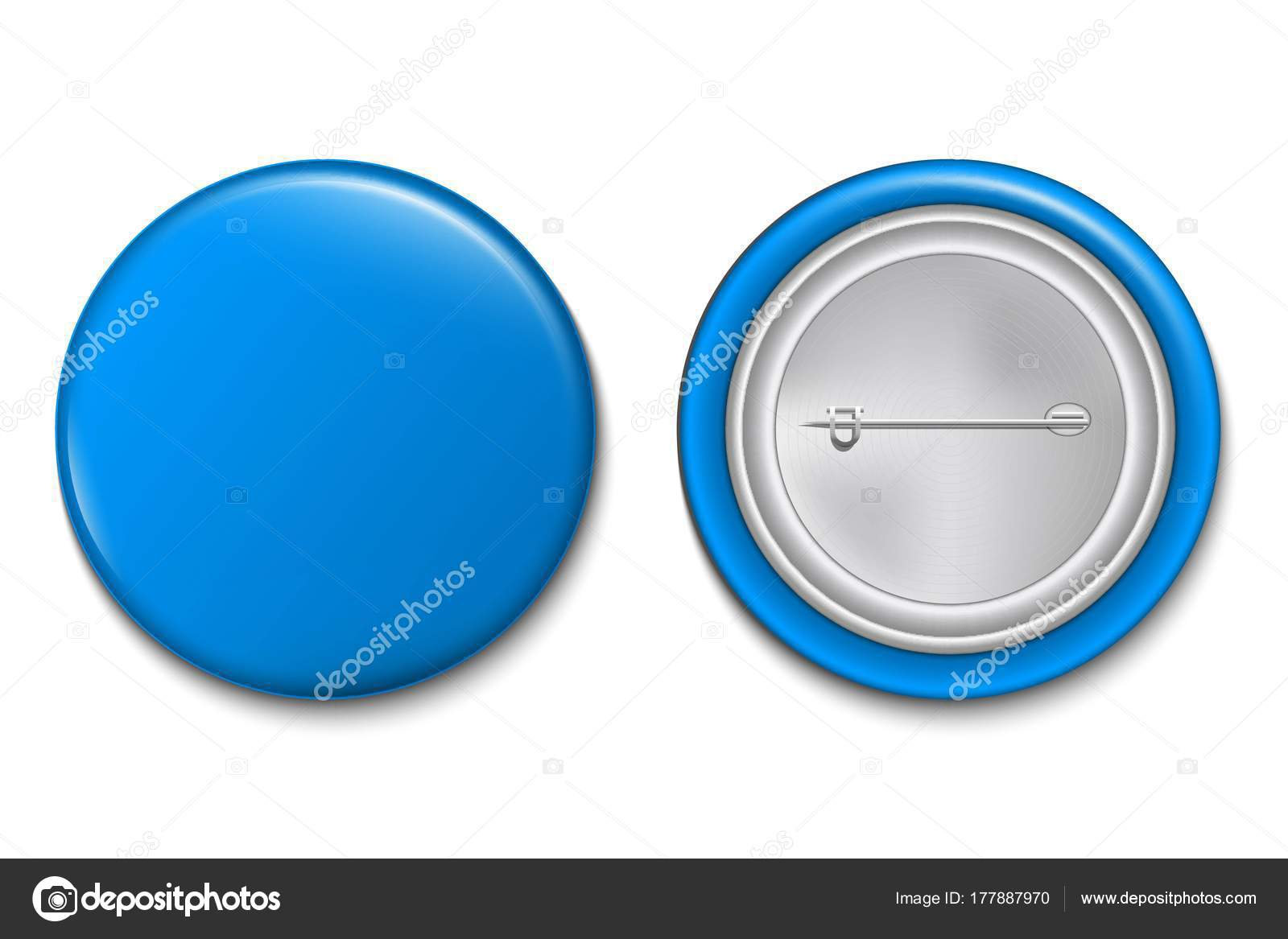 Creative Vector Illustration Pin Button Isolated Transparent ...