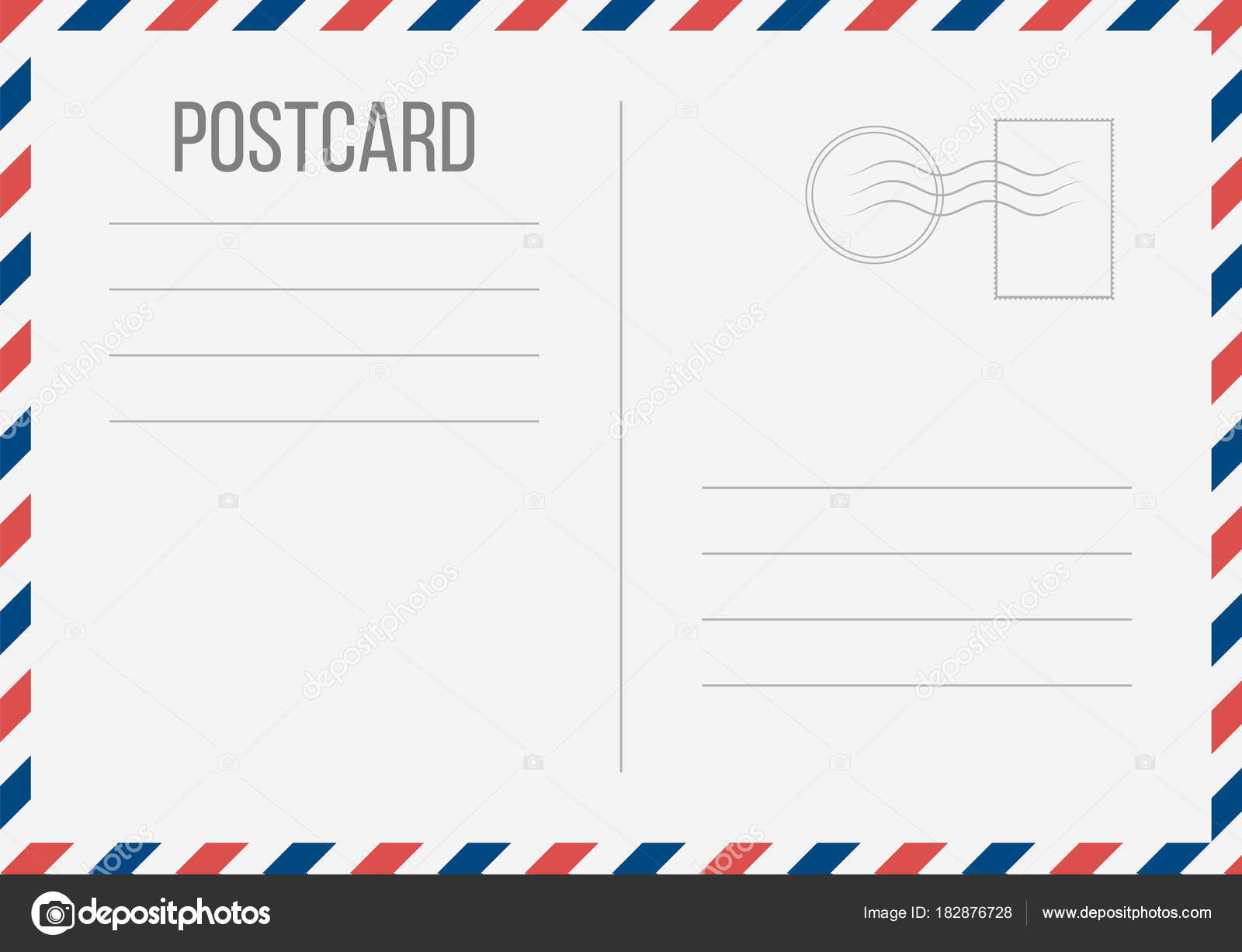 creative vector illustration of postcard isolated on transparent