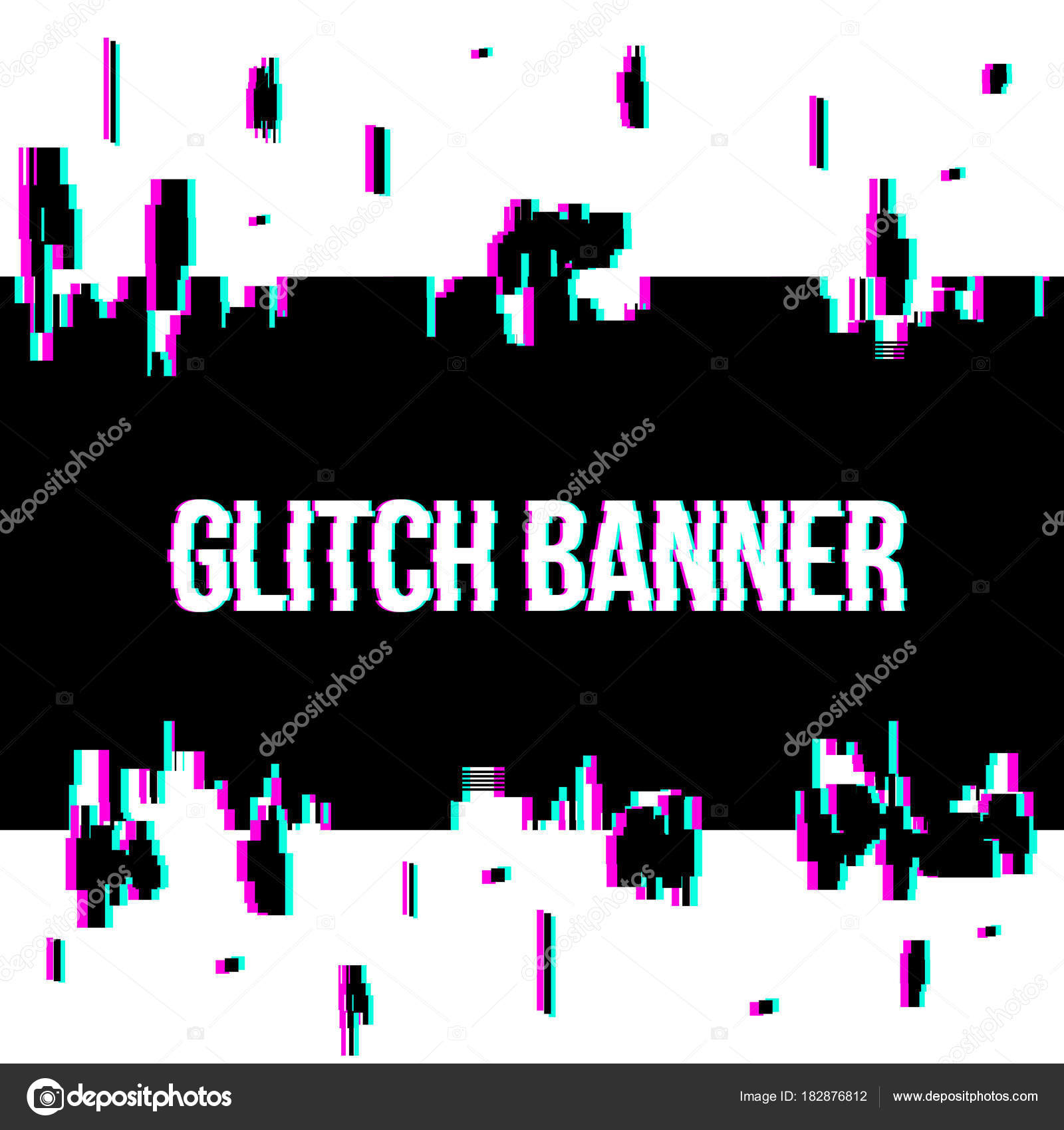 Creative Vector Illustration Of Glitch Style Distorted