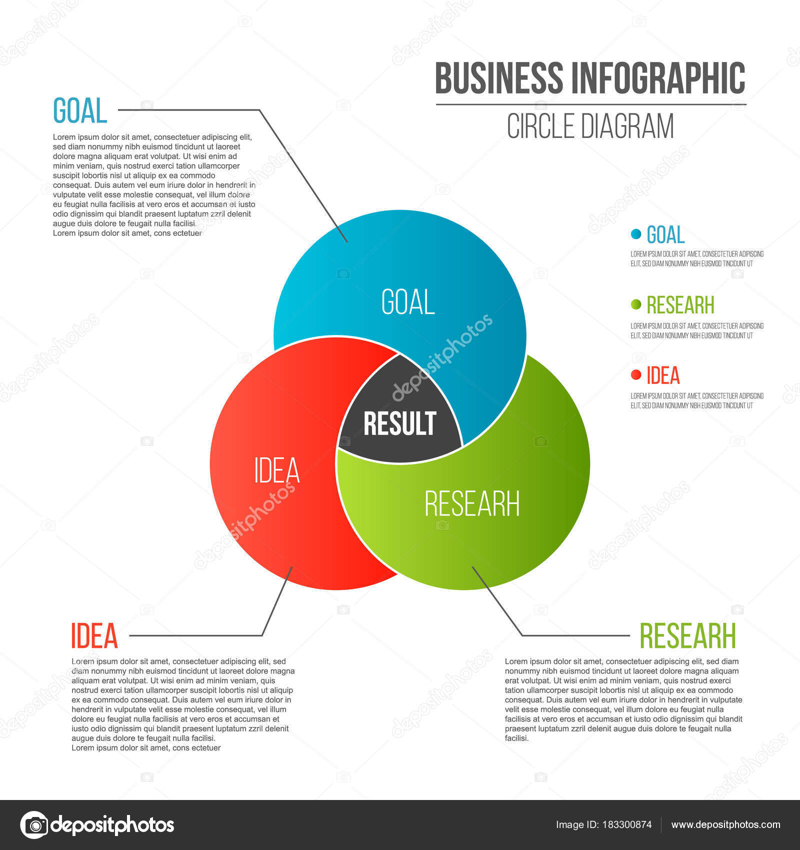 Creative vector illustration of business presentation slide template creative vector illustration of business presentation slide template circle venn diagram isolated on transparent background ccuart Gallery