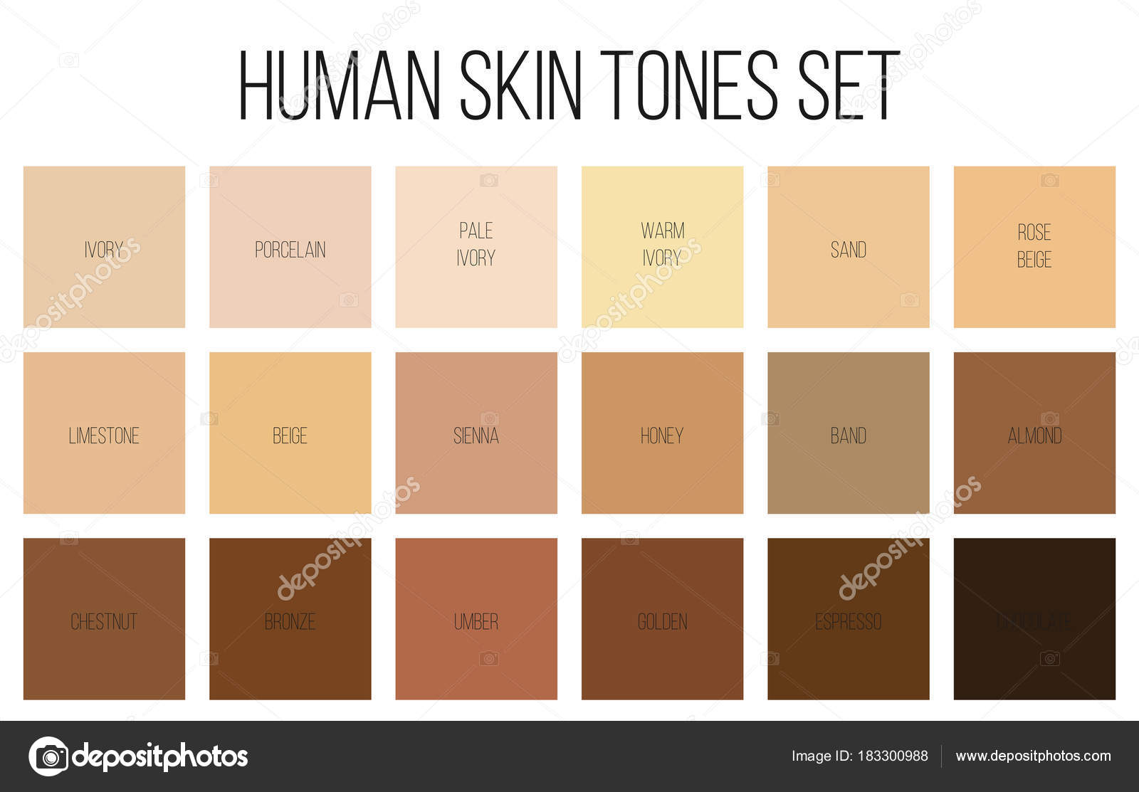 My Skin Tone Palette For Drawing Portraits