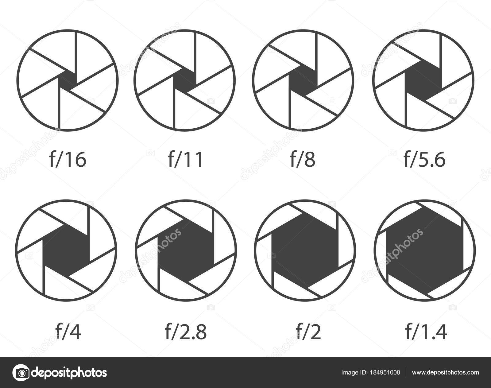 Creative vector illustration of camera shutter aperture with creative vector illustration of camera shutter aperture with different iso isolated on transparent background art design monochrome diagrams collection pooptronica Images