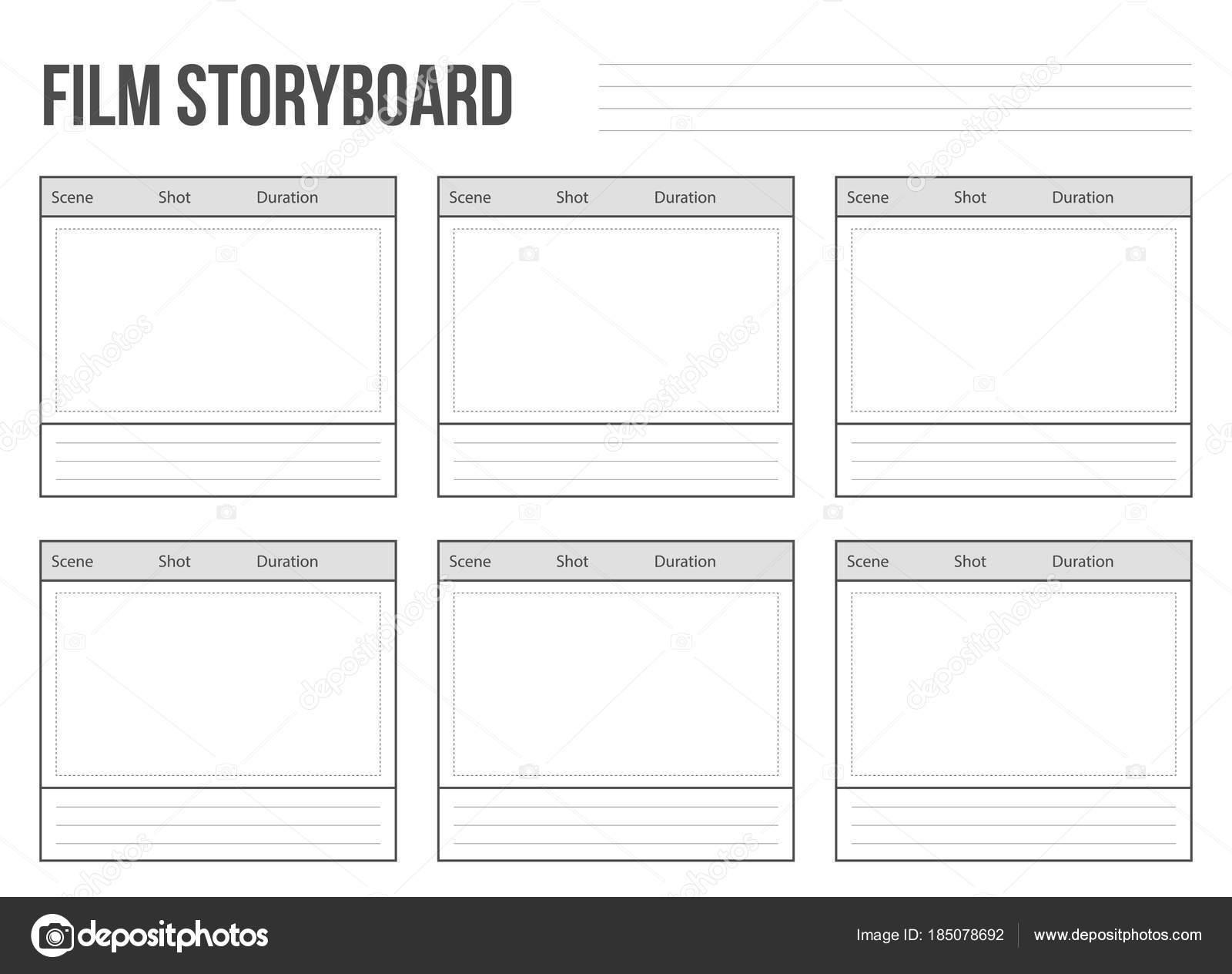 Kreative Vektor-Illustration von professionellen Film Storyboard ...