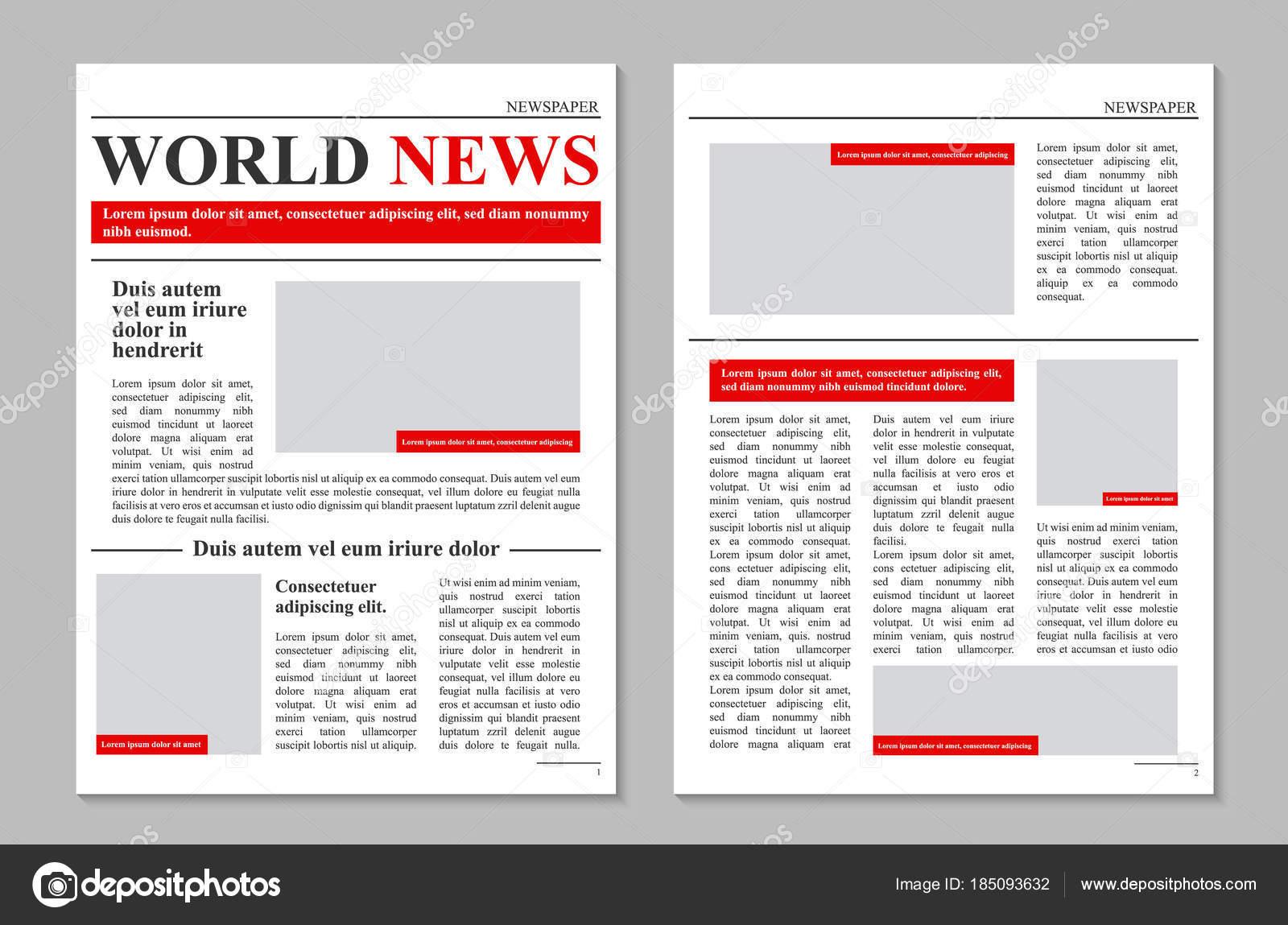 de vector creativo diario periódico revista noticias promocionales ...