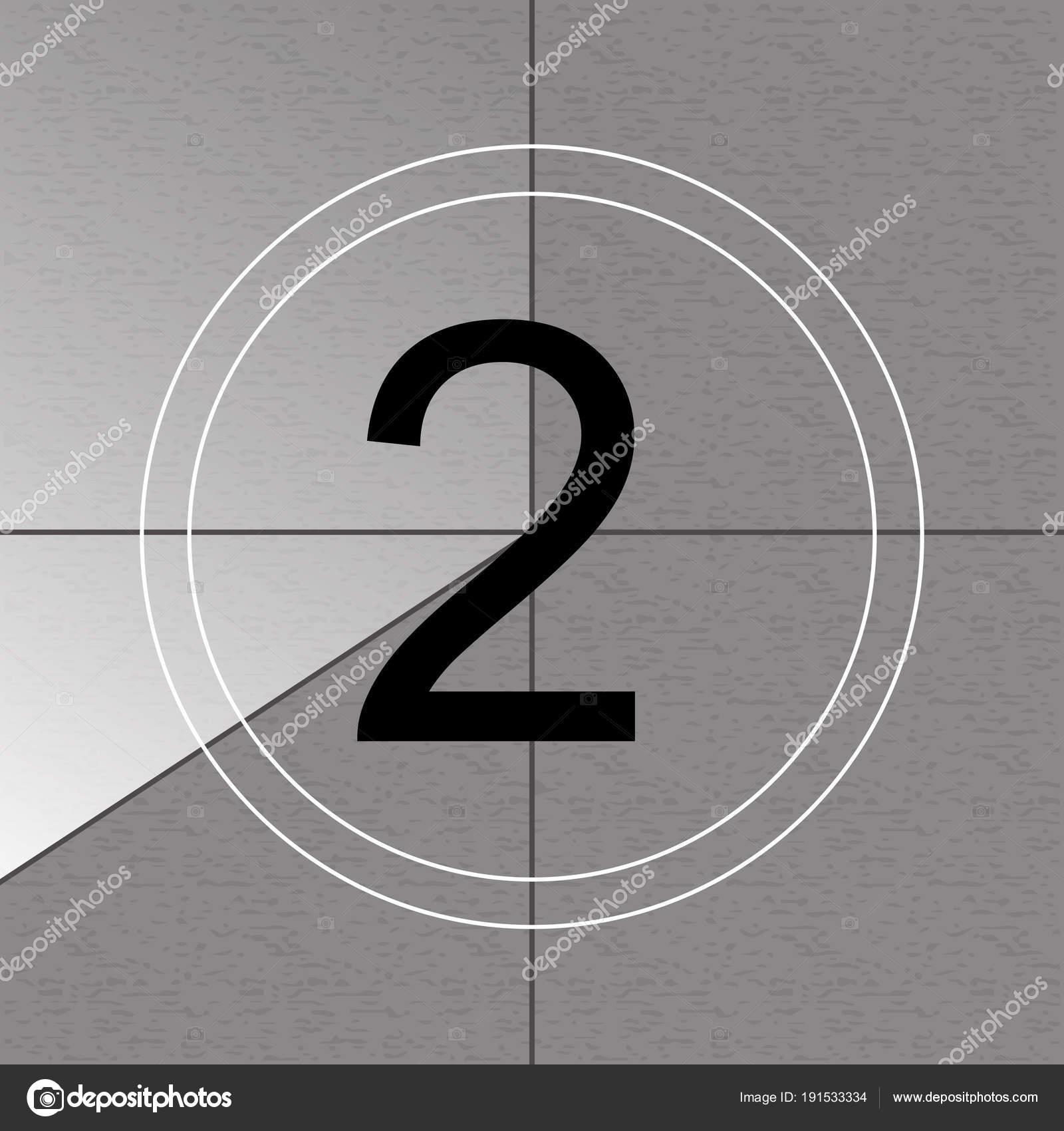 Kreative Vektor-Illustration des Countdown-Frames. Art-Design. Alte ...