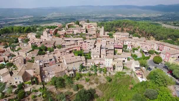 Francie, Vaucluse, letecký pohled na Roussillon