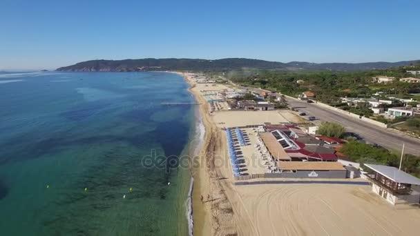 Saint Tropez Aerial View Of Pampelonne Beach Stock Video