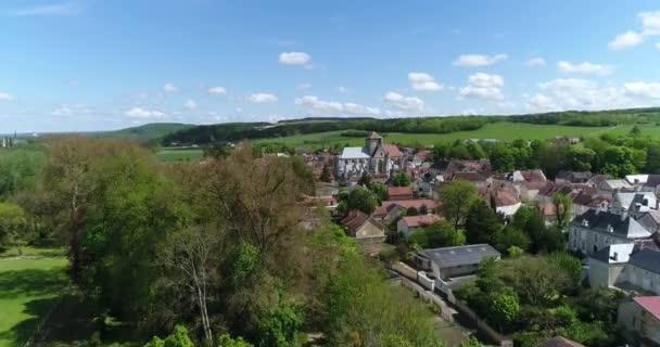 Evropa, Francie, Champagne-Ardennes, Letecký pohled na les Riceys, departement Aube, zapsaný na seznamu světového dědictví UNESCO,