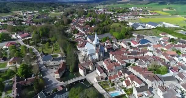 Europe, France, Champagne-Ardennes, Aerial view of les Riceys, Aube department, listed as World Heritage by UNESCO,