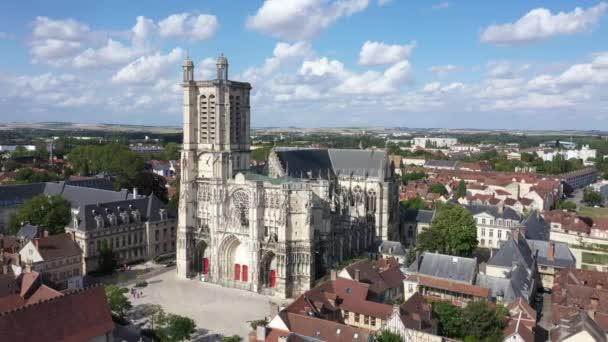 troyes, Luftaufnahme der Kathedrale Saint-Pierre-et-Saint-Paul