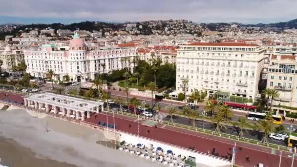 Nice, France, Aerial view of promenade des Anglais, Cote dAzur,