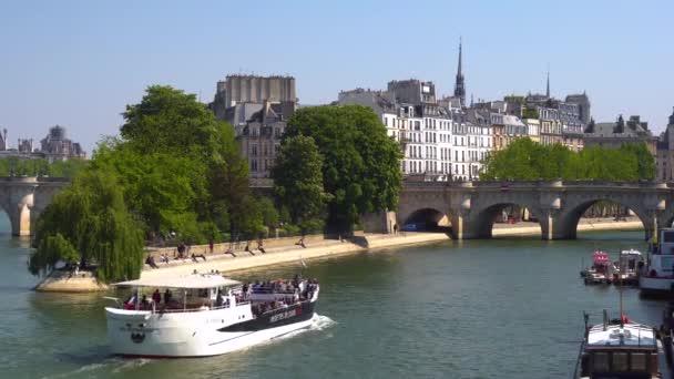 View of Seine River and famous ile de la cit. Paris, France, Europe.
