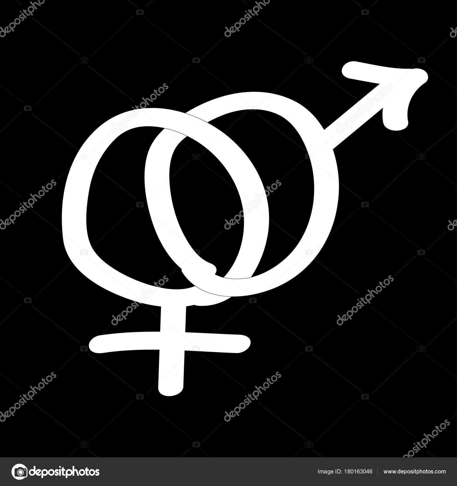 Male Female Symbols Icon Doodle Style Stock Vector Romawzwzstock