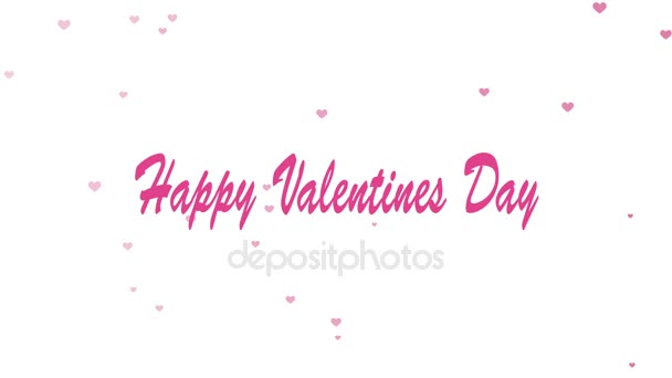 valentines day abstract background with flying hearts. 4k
