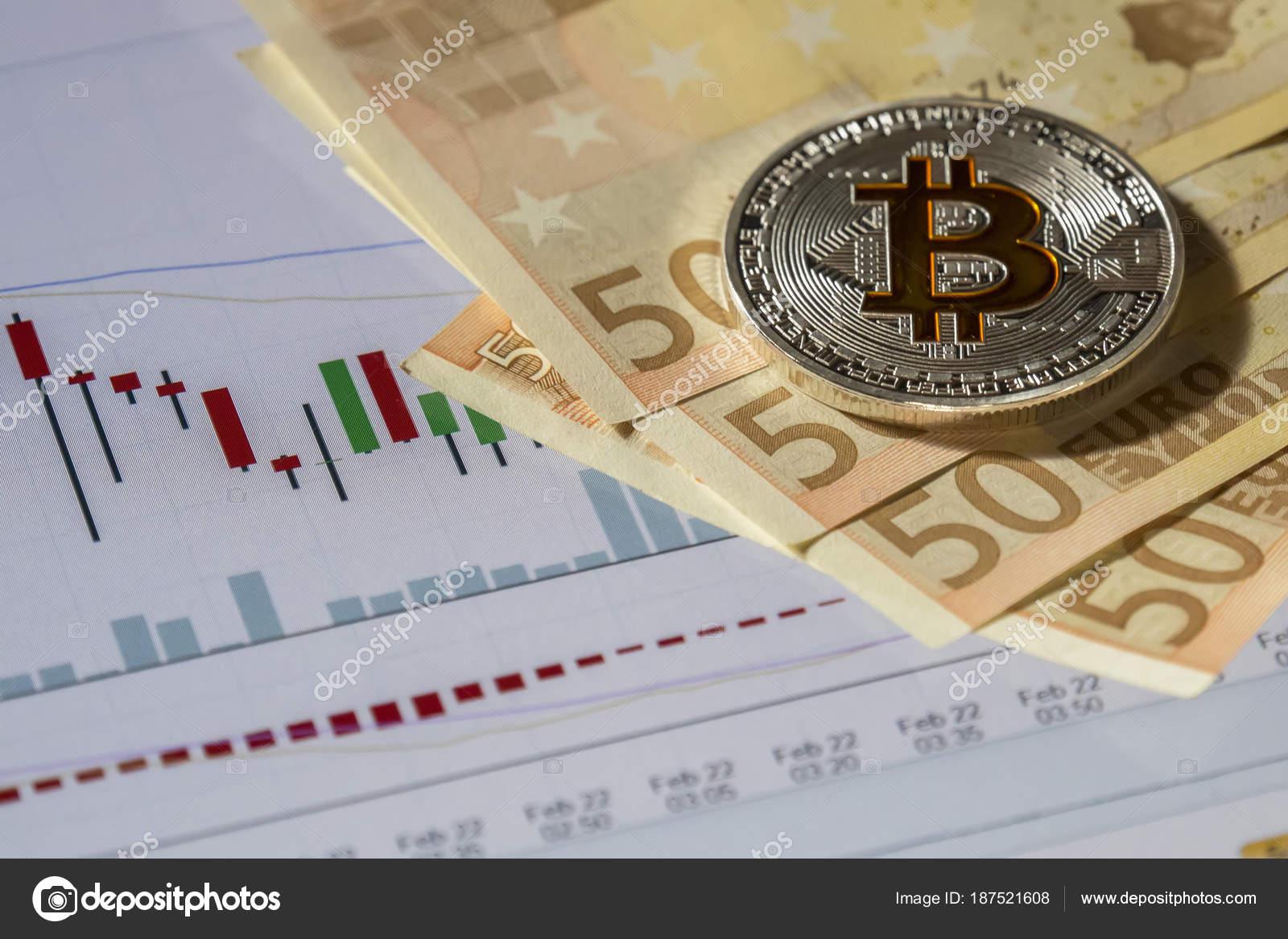 Kryptowährung Münzen über Kaufen Und Verkaufen Handel Grafik Und