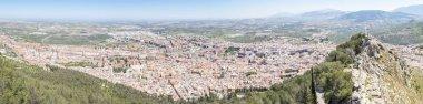 Panoramic Jaen city view from Santa Catalina Castle, Spain
