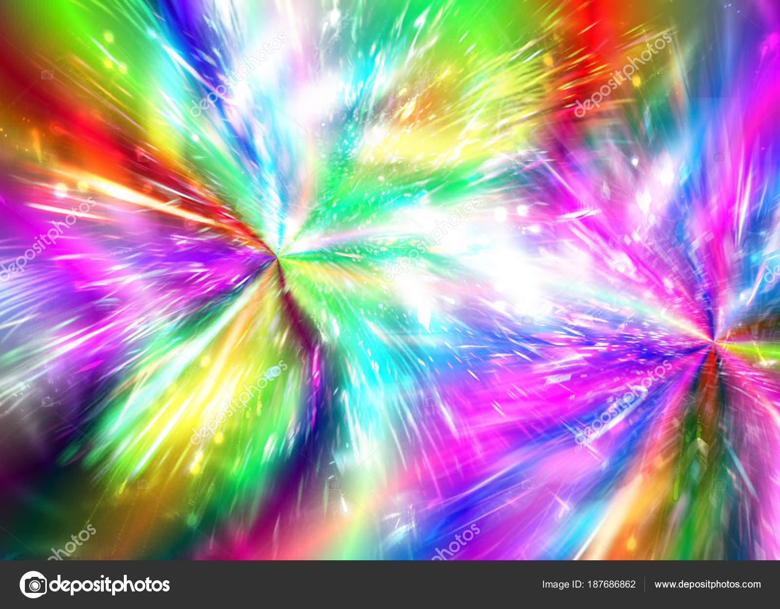 Rainbow Fireworks Celebration Colorful Abstract Image With: Arco-íris Resumo Fundo Fogos De Artifício, Fogos De