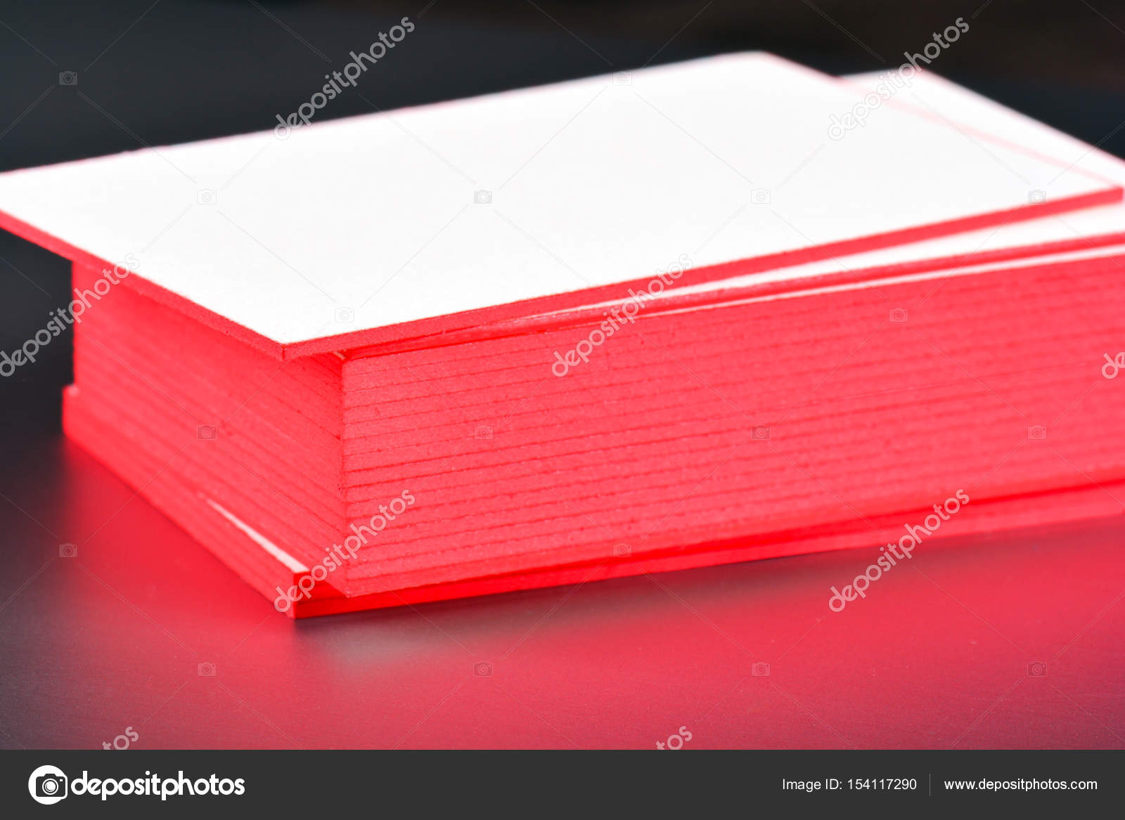 Thick white cotton paper business card mock up with red painted thick white cotton paper business card mock up with red painted edges blank business cards reheart Gallery
