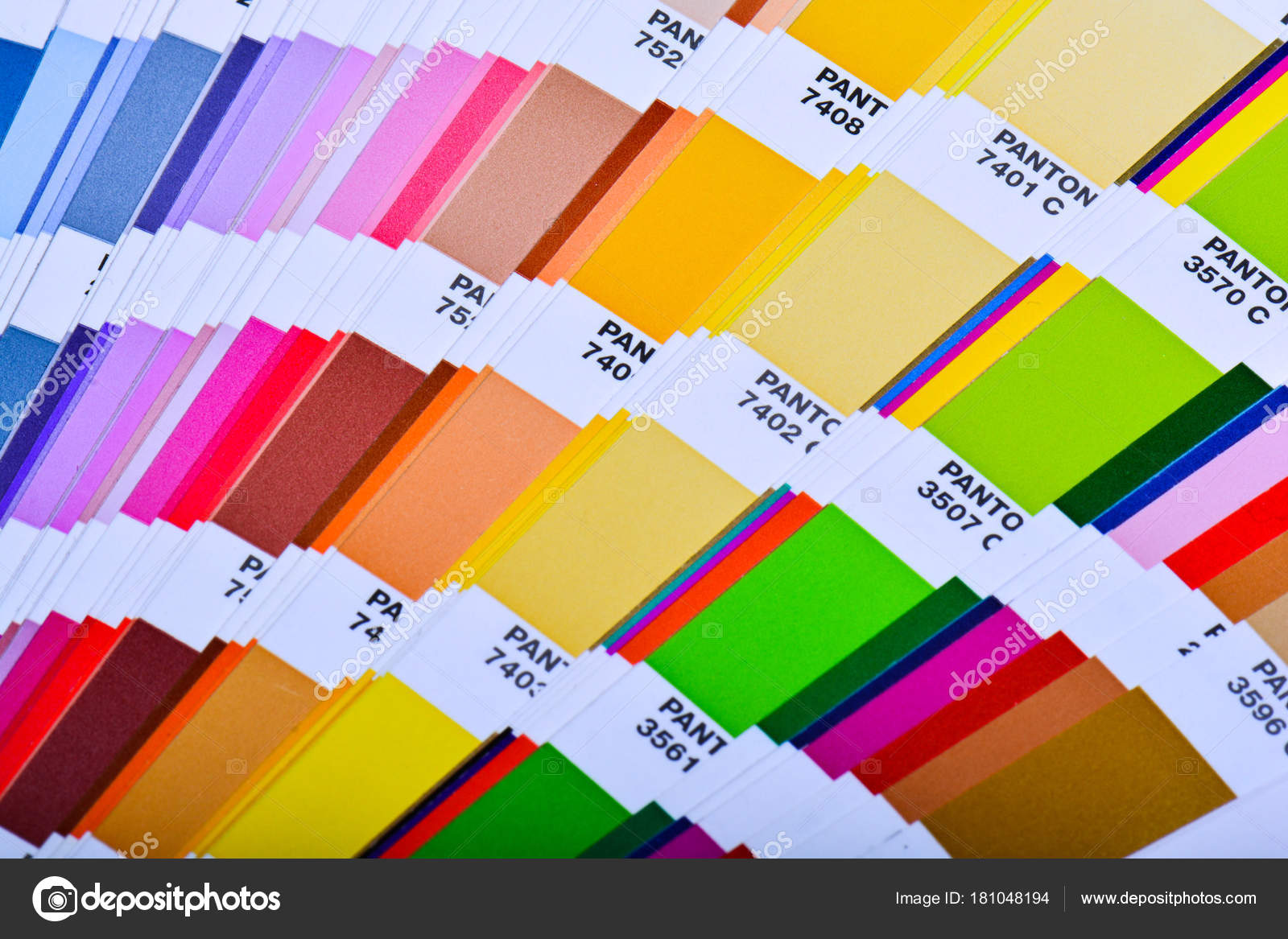 Guía Paleta Colores Cerca Catálogo Swatch Colores — Fotos de Stock ...