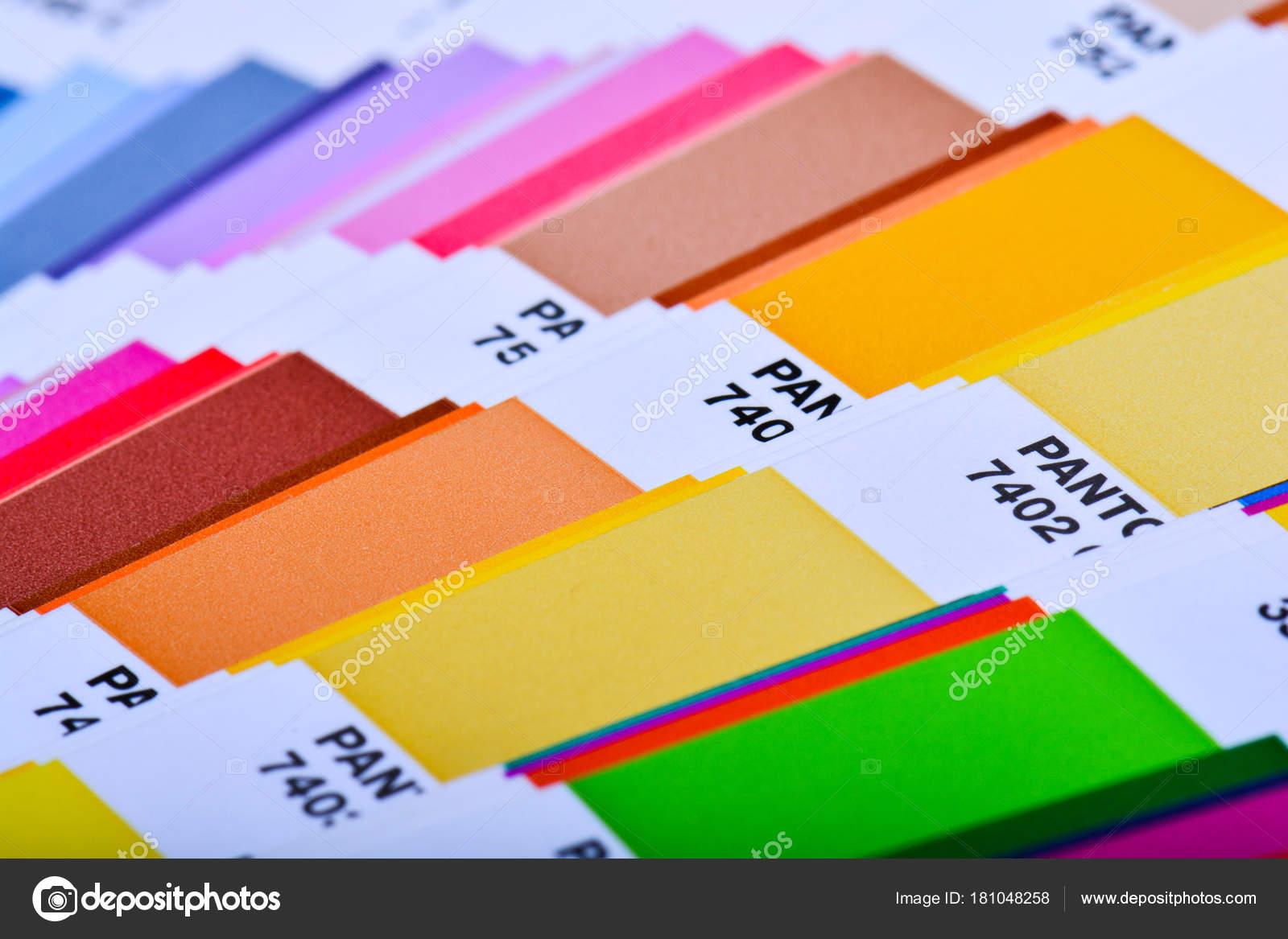 Guía Paleta Colores Cerca Catálogo Swatch Colores — Foto de stock ...