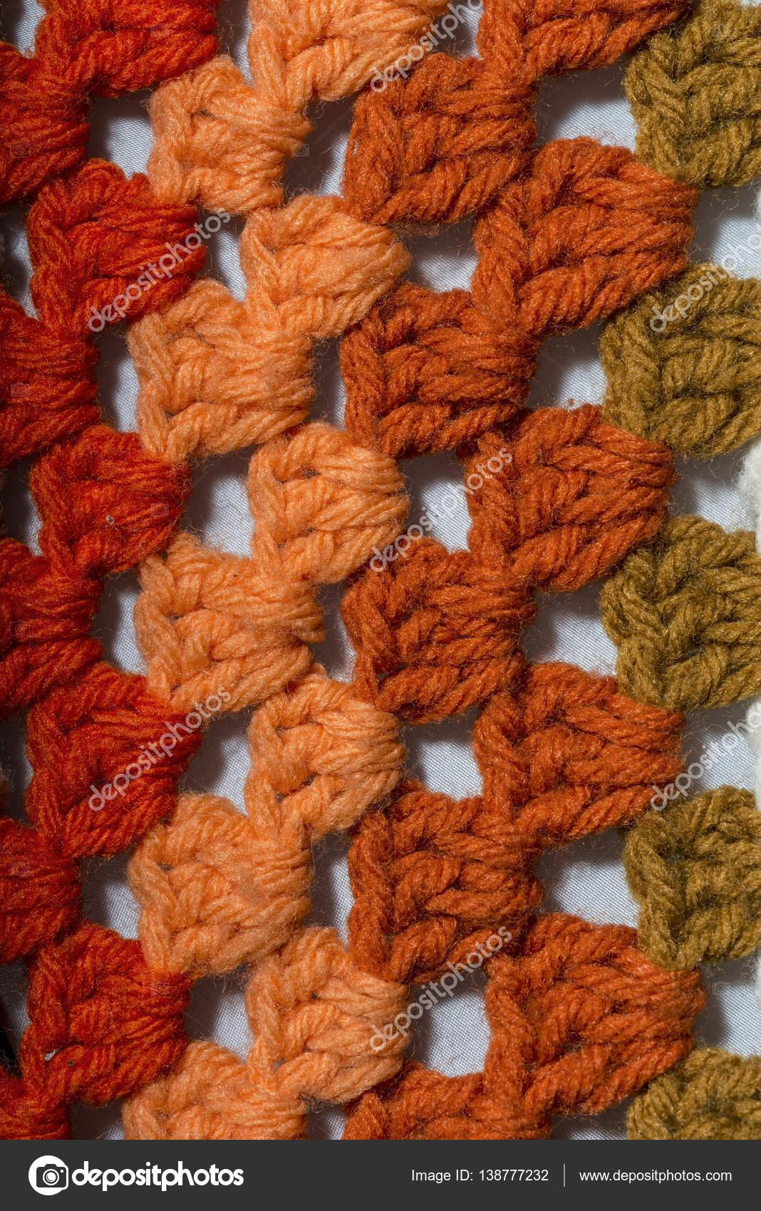 Stoff In Verschiedenen Farben Häkeln Stockfoto Martinotero