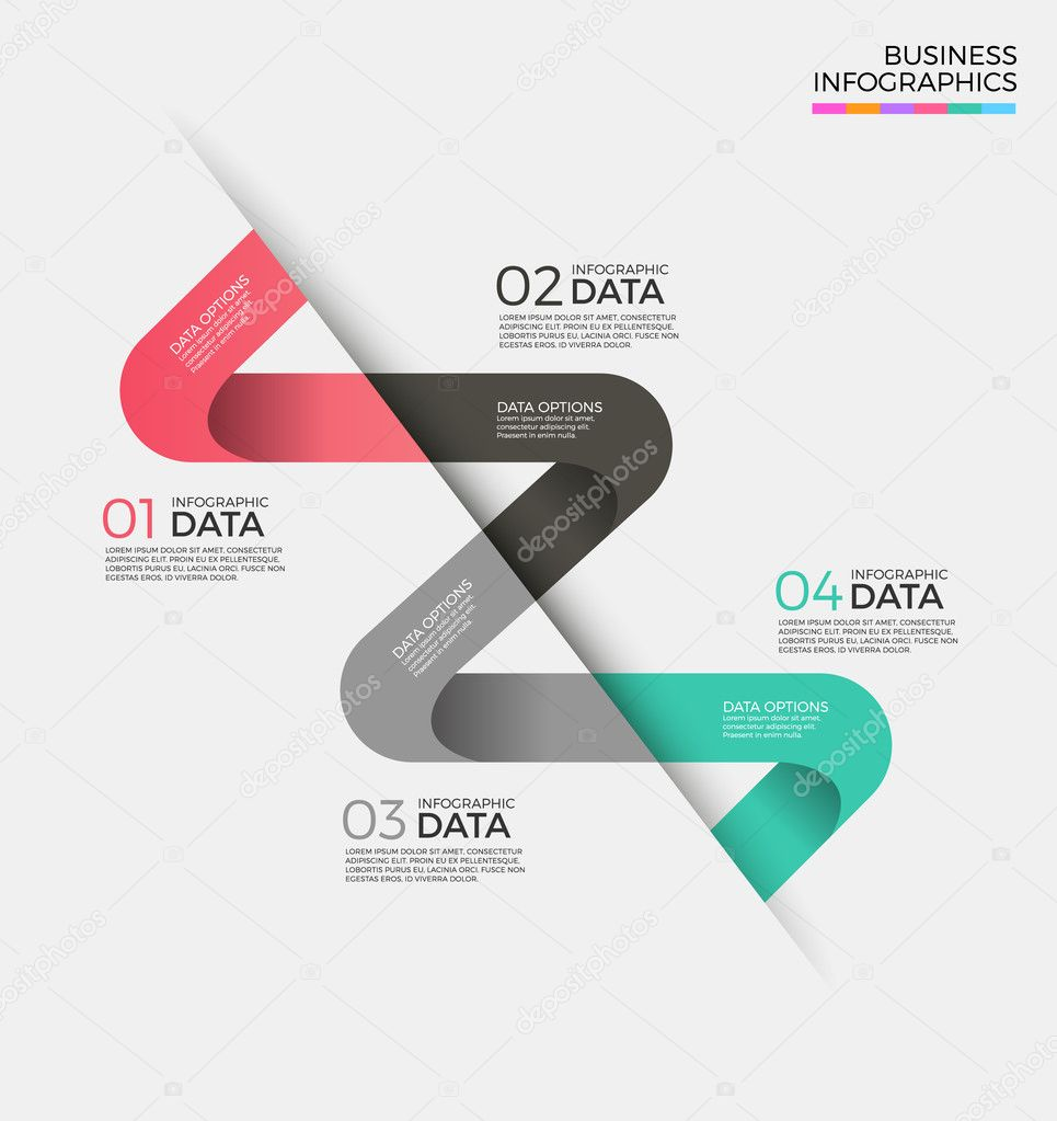 Business infographics element template illustration design
