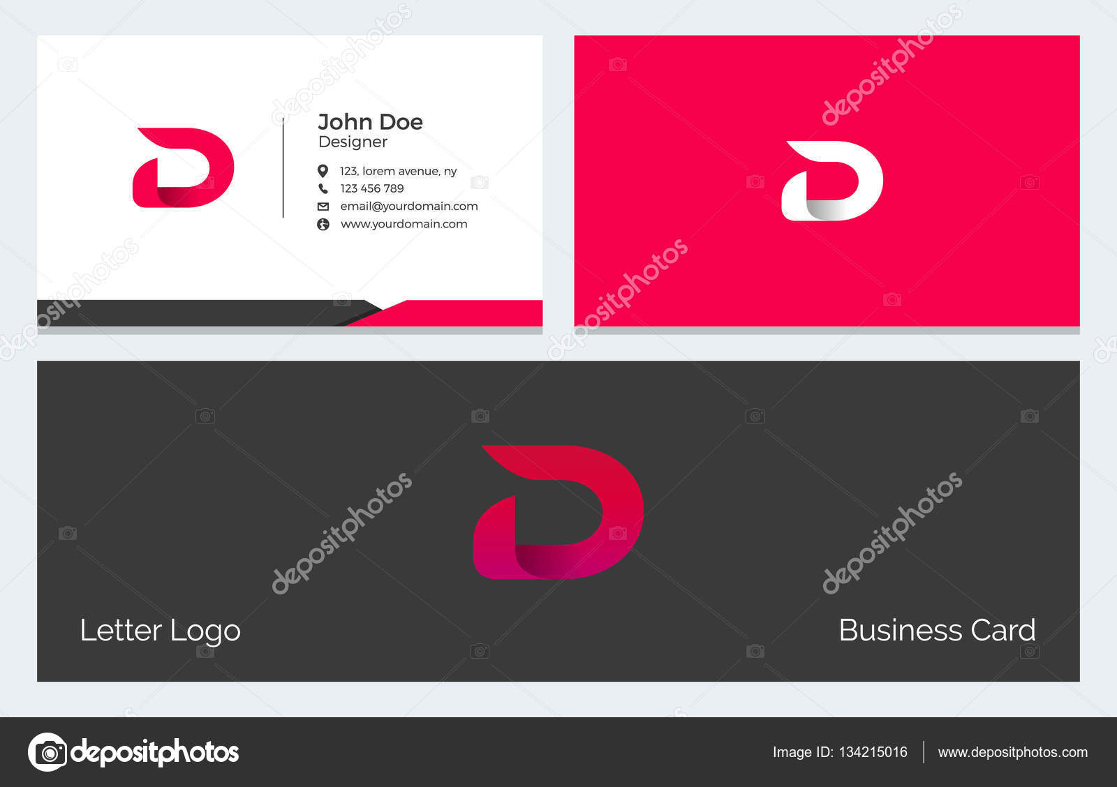 D letter corporate minimal business card with modern abstract corporate minimal business card with modern abstract alphabet logo in red vector by pixar colourmoves