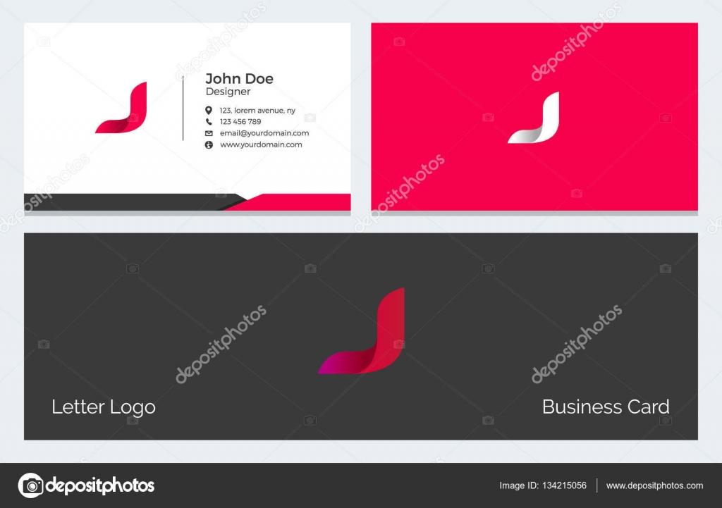 Corporatif Minime Carte De Visite Avec Logo Moderne Abstrait Alphabet En Rouge Vecteur Par Pixar