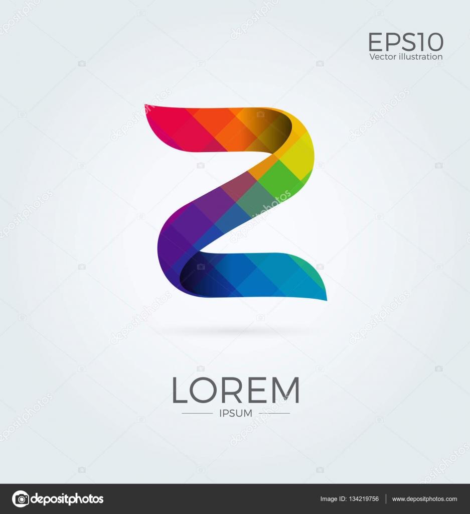 z letter logo icon mosaic pattern design template element stock