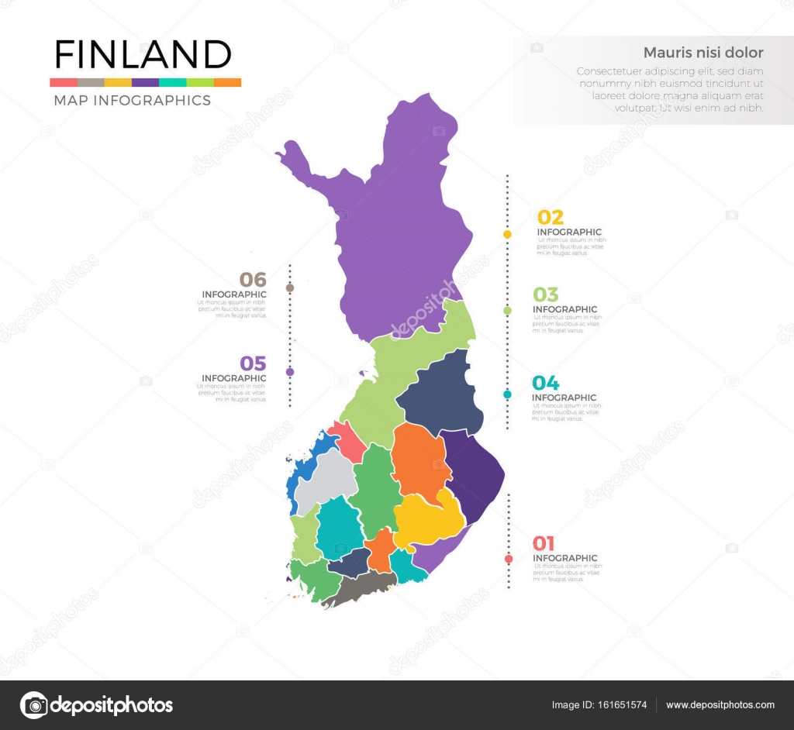 Finnland Karte Regionen.Finnland Land Karte Stockvektor C Pixar 161651574