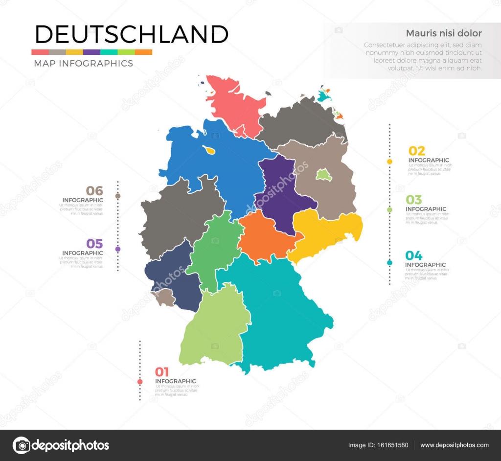 mapa del pas deutschland archivo imgenes vectoriales