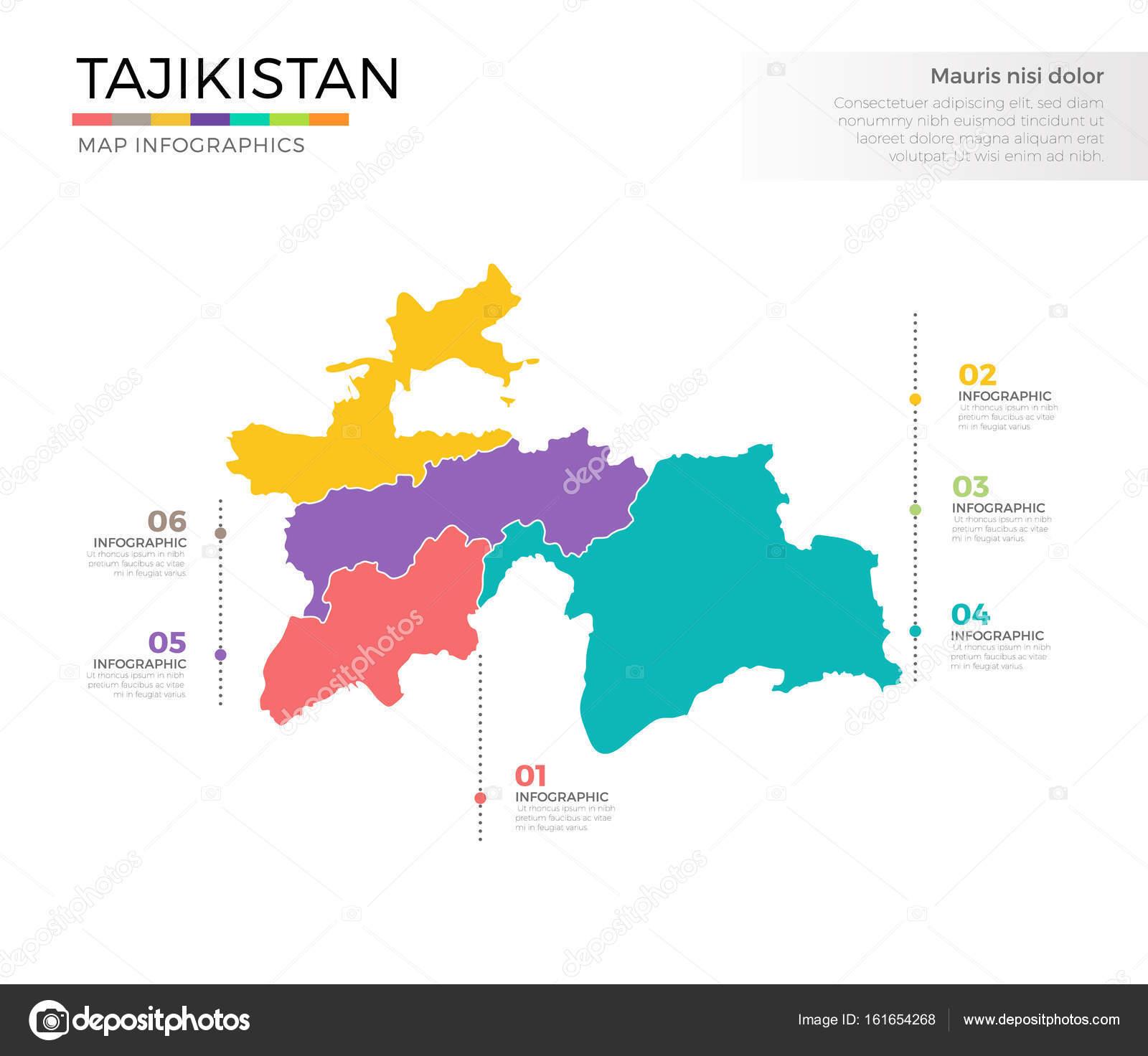 Tajikistan Country Map Stock Vector Pixar - Tajikistan map vector