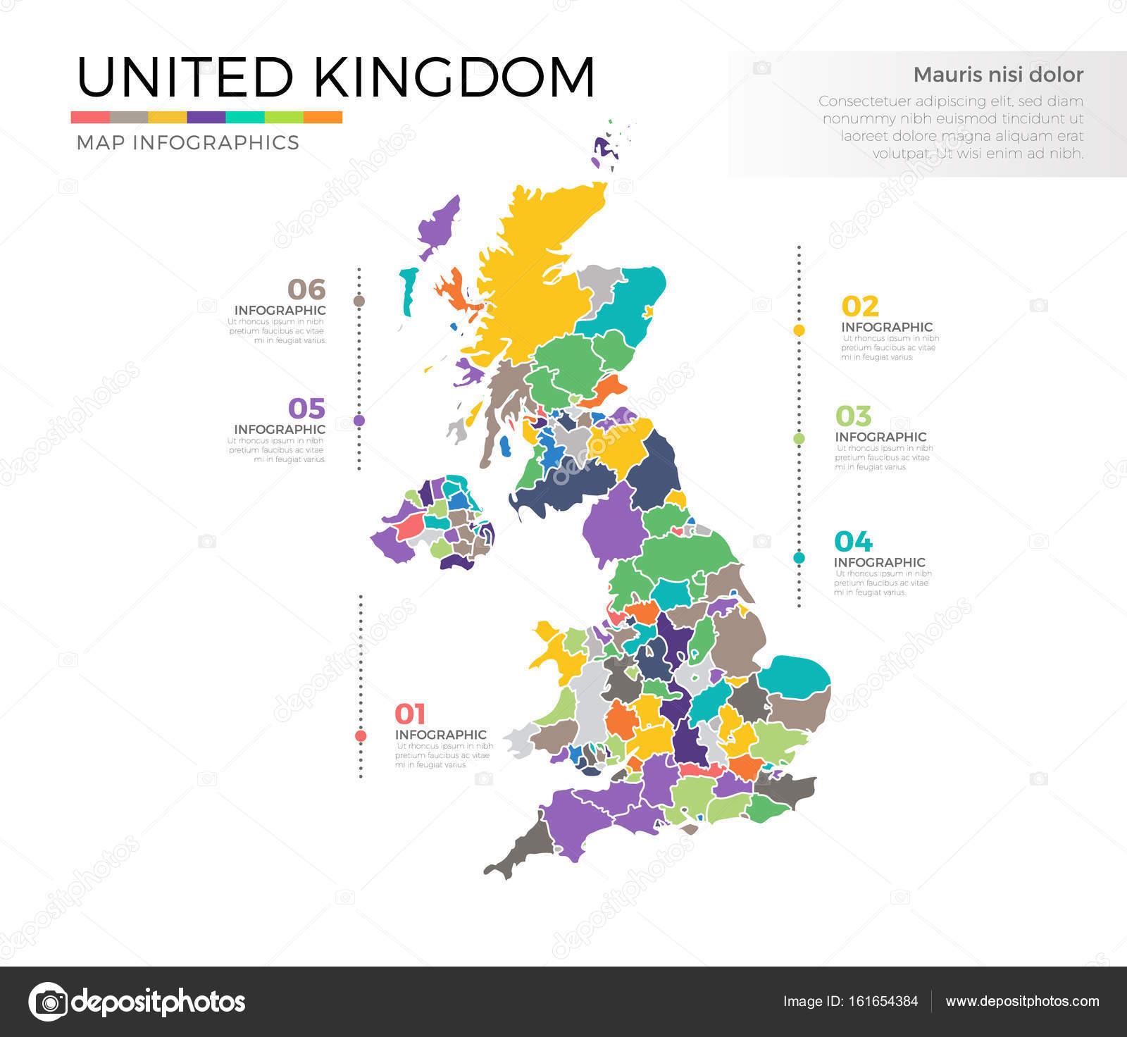 Großbritannien Landkarte — Stockvektor © pixar #161654384
