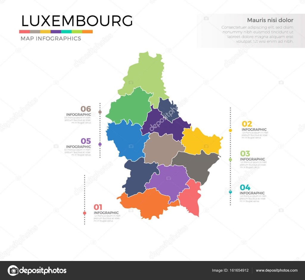Luxembourg country map Stock Vector pixar 161654912
