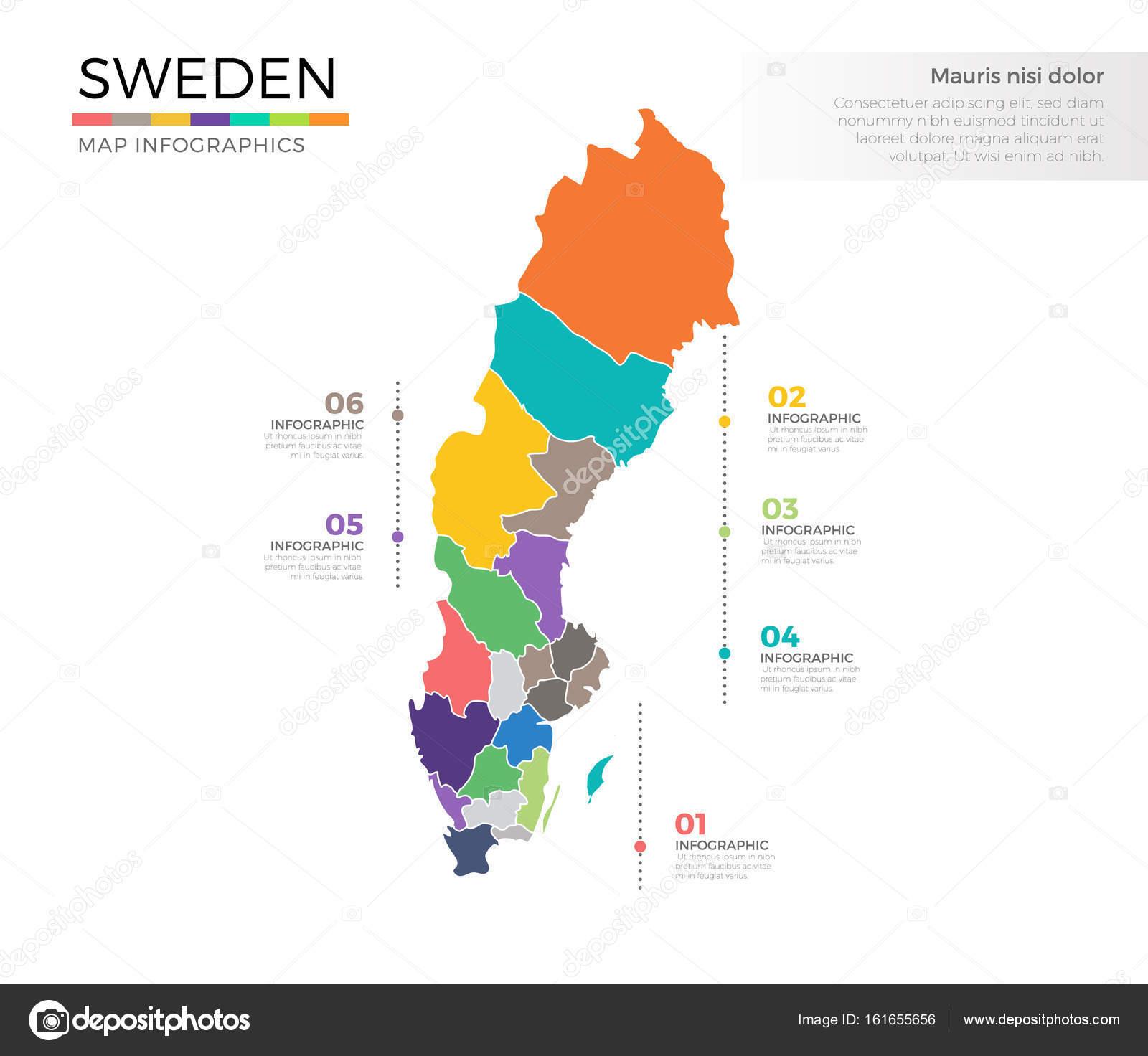 Schweden Karte Regionen.Schweden Land Karte Stockvektor C Pixar 161655656