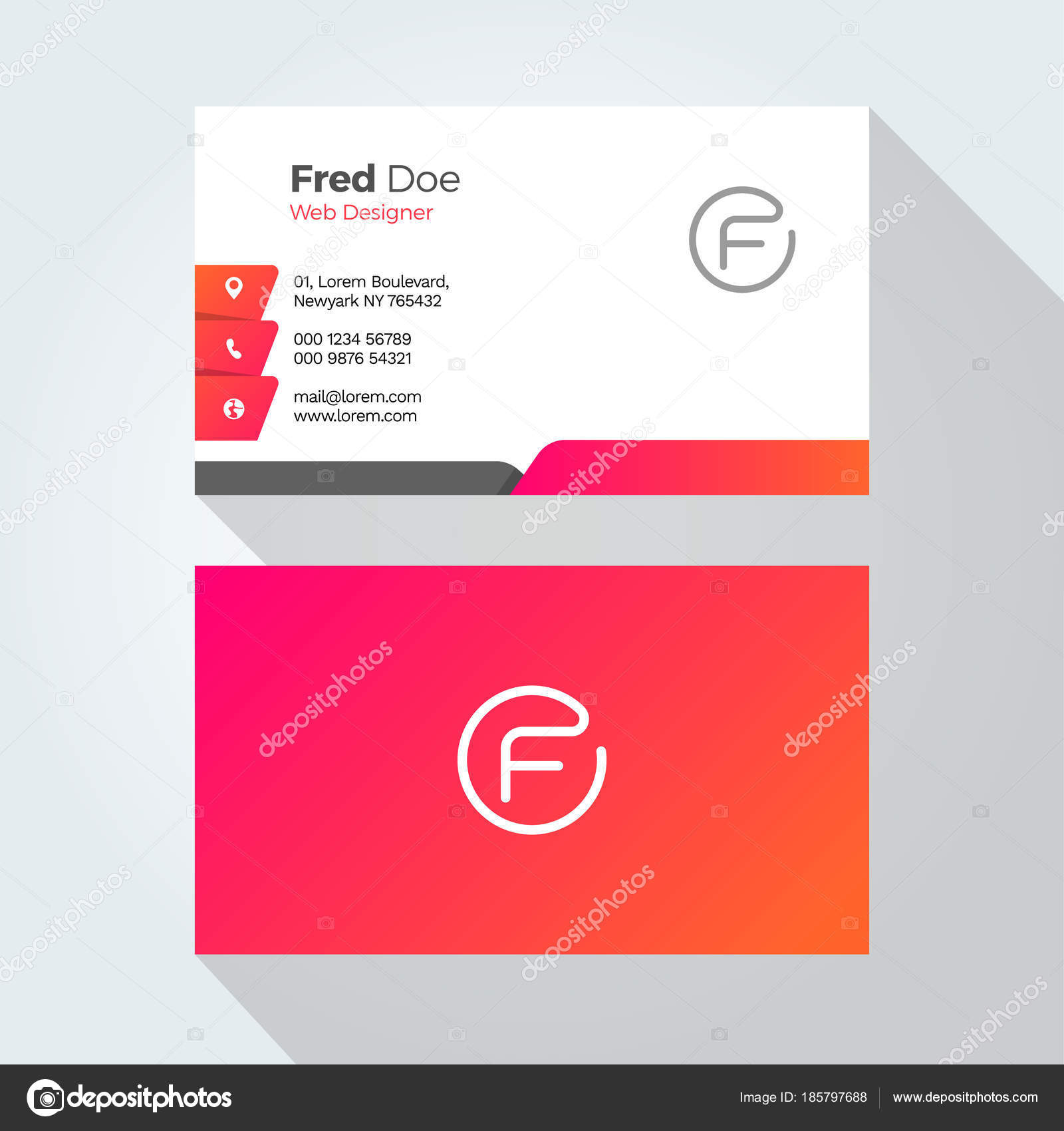 Letter Modern Minimal Abstract Alphabet Business Card Design ...