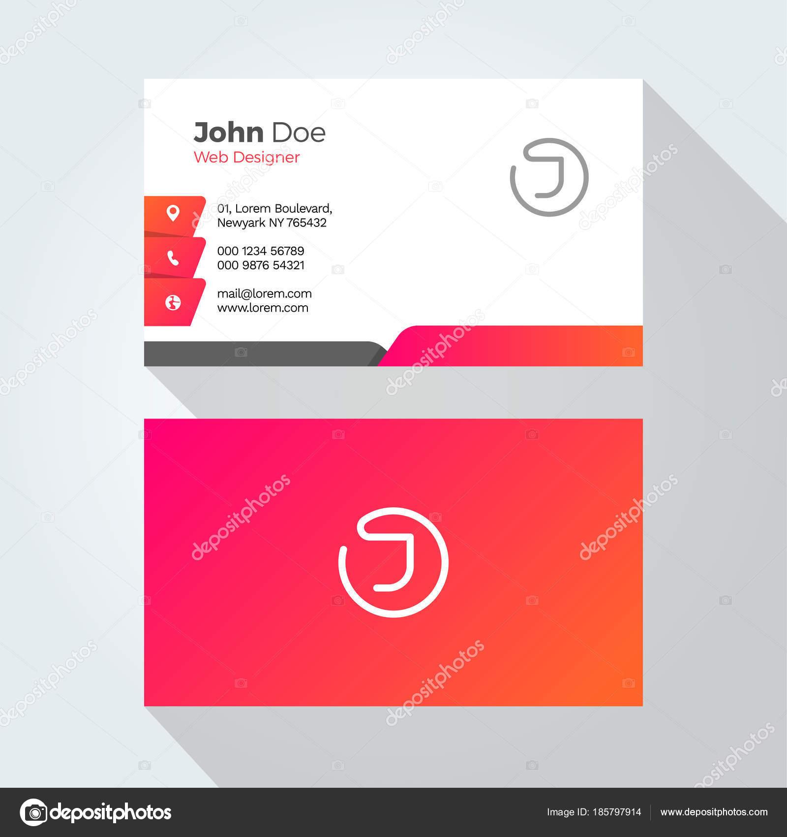 Plantilla Diseño Tarjeta Carta Mínima Abstracta Alfabeto Empresarial ...