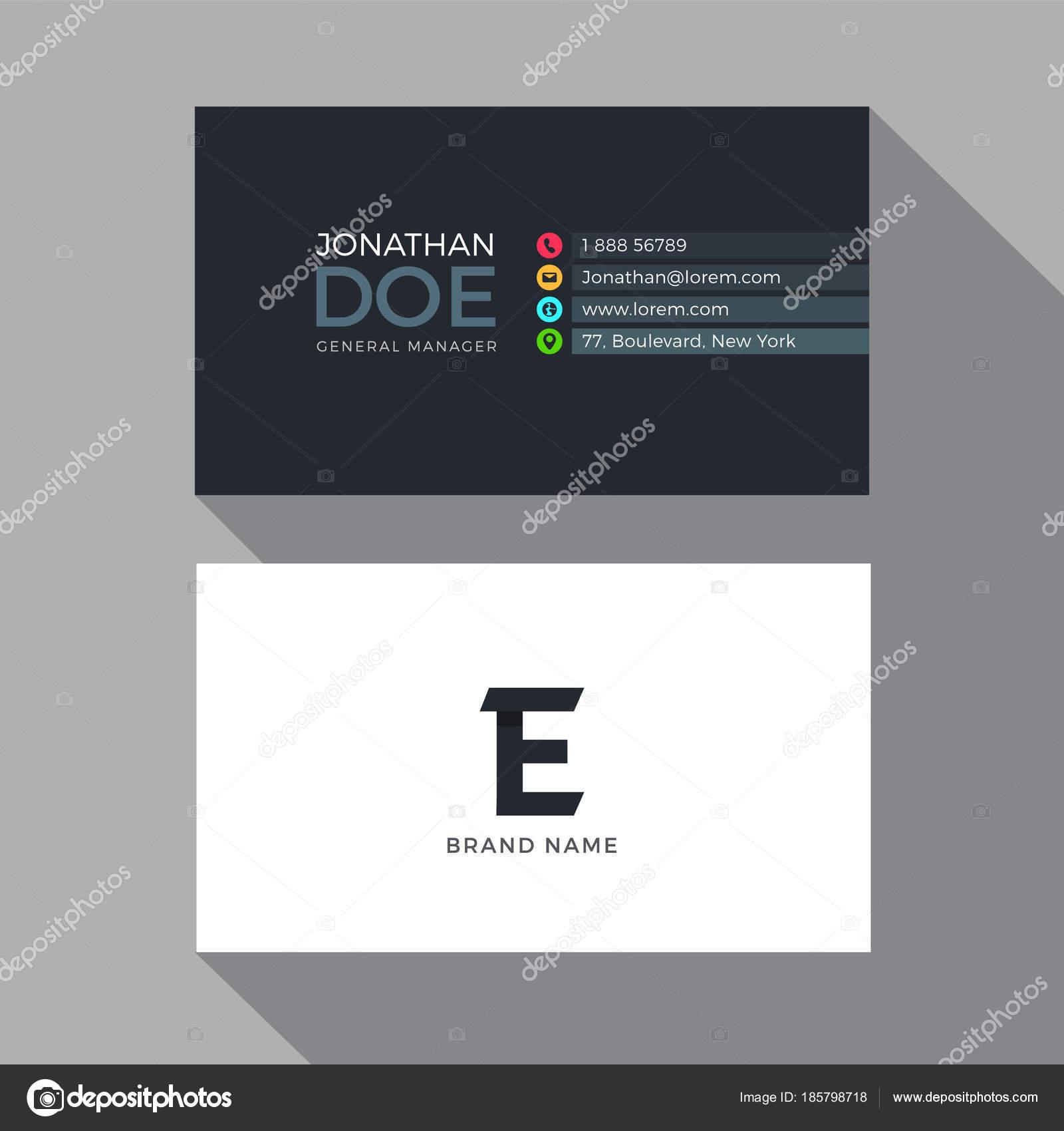 Plantilla Diseño Tarjetas Carta Moderno Alfabeto Business — Vector ...