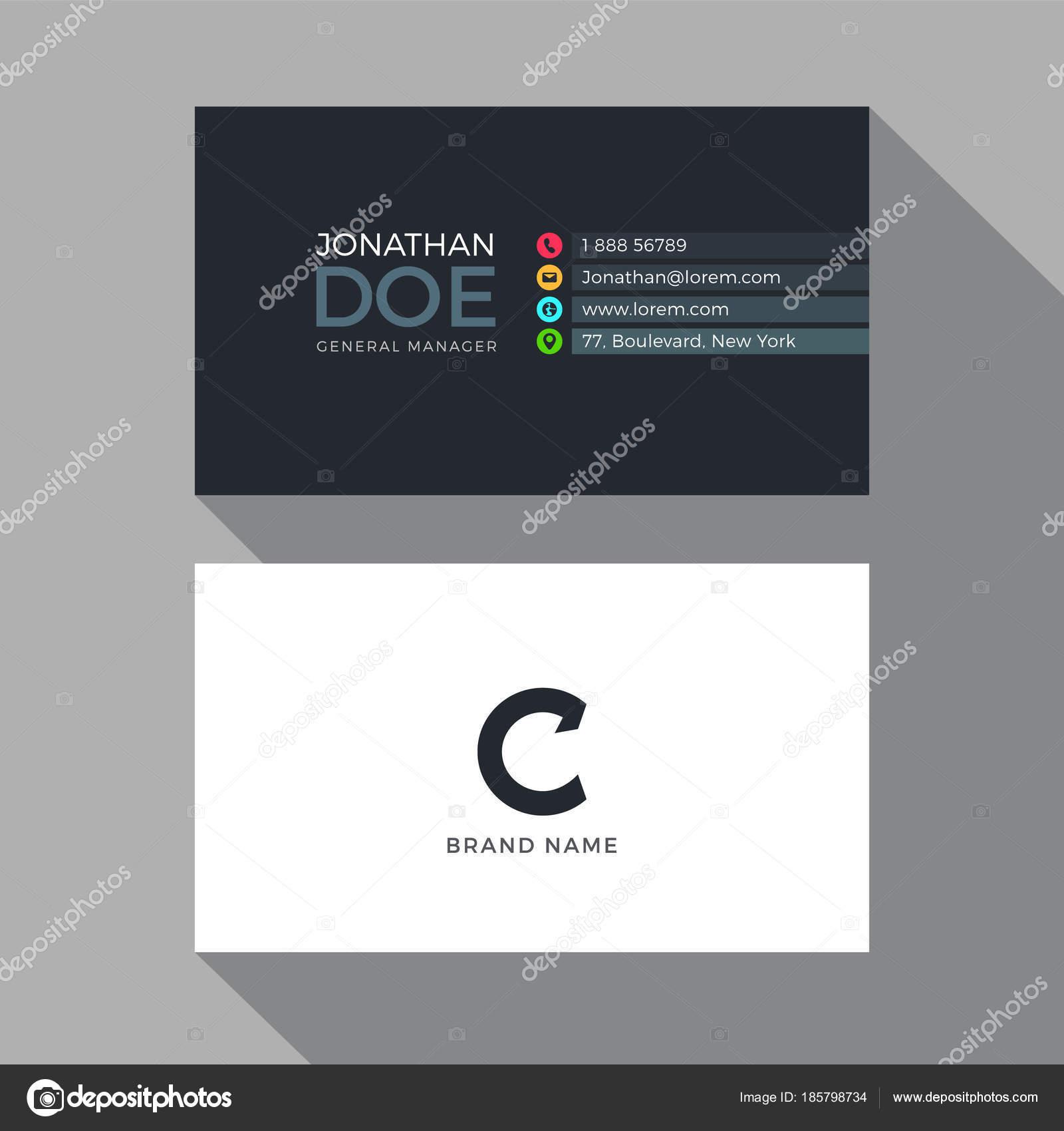 Letter modern alphabet business card design template stock c letter modern alphabet business card design template vector by pixar reheart Gallery