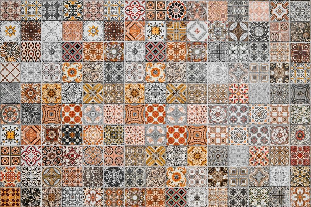 Ceramic tiles patterns from Thailand — Stock Photo © subinpumsom ...