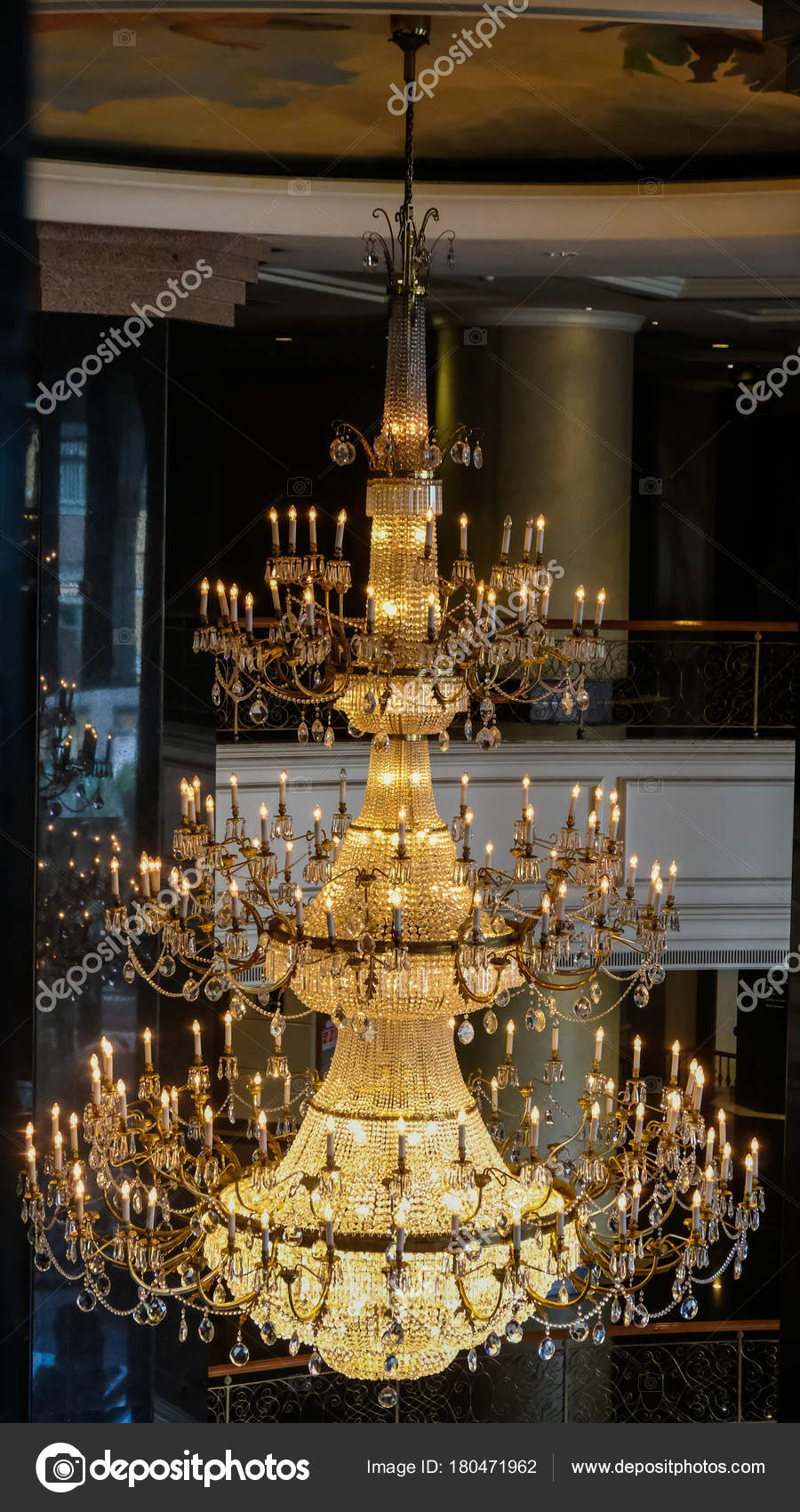 Elegant crystal chandelier stock photo subinpumsom 180471962 elegant crystal chandelier stock photo 180471962 arubaitofo Choice Image