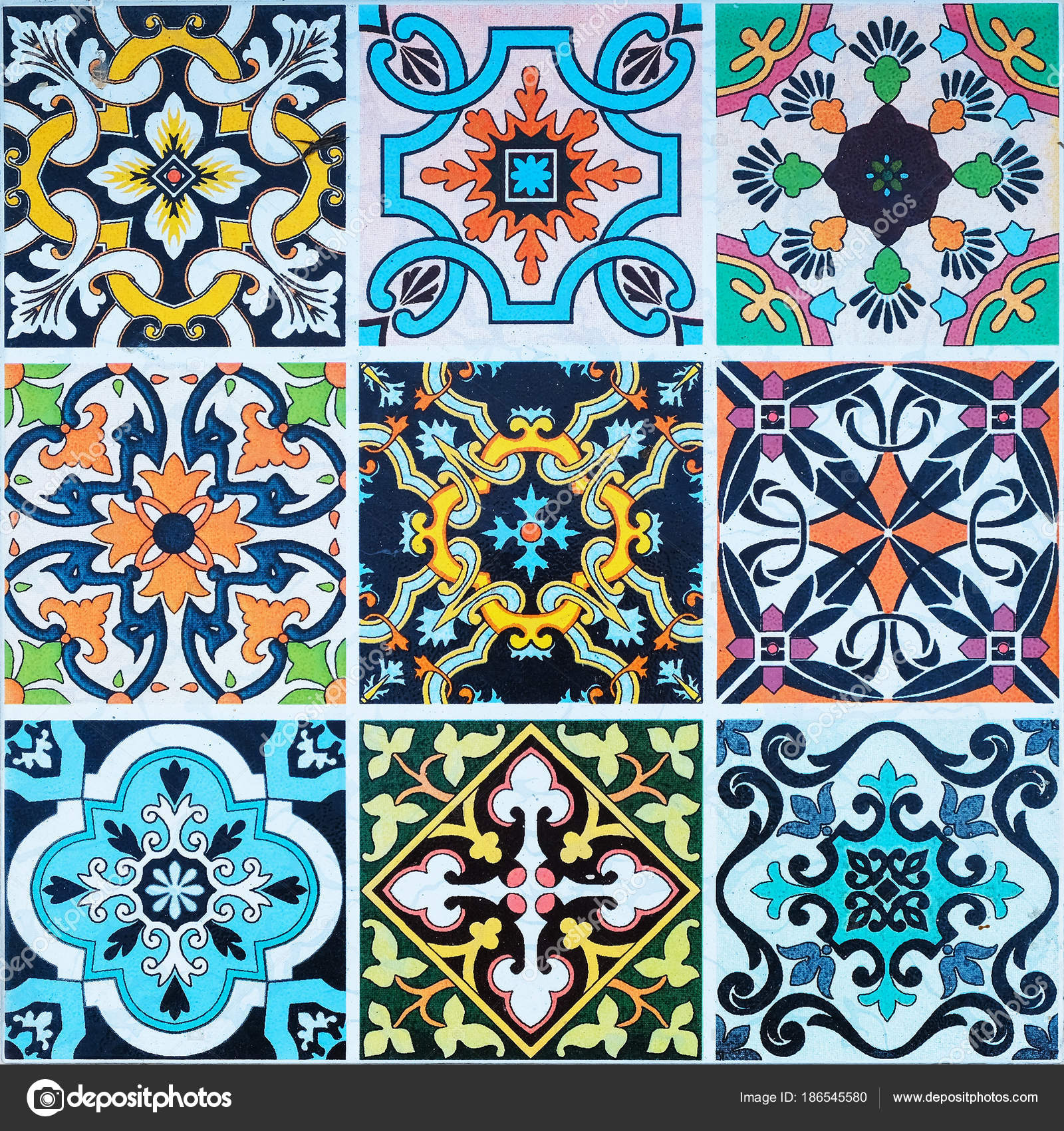 ceramic tiles patterns from Portugal. — Stock Photo © subinpumsom ...