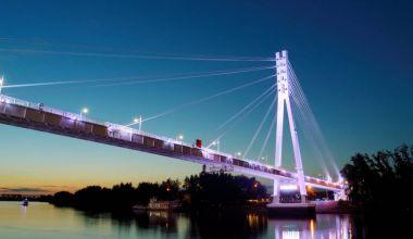 Bridge illumination, tyumen