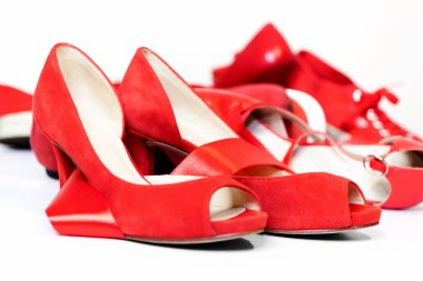Red shoes, a symbol femicide. Illustrative editorial