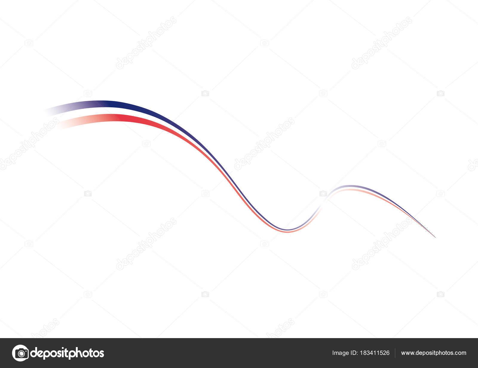 Bandera francesa tricolor. Ilustración de vector — Vector de stock ...