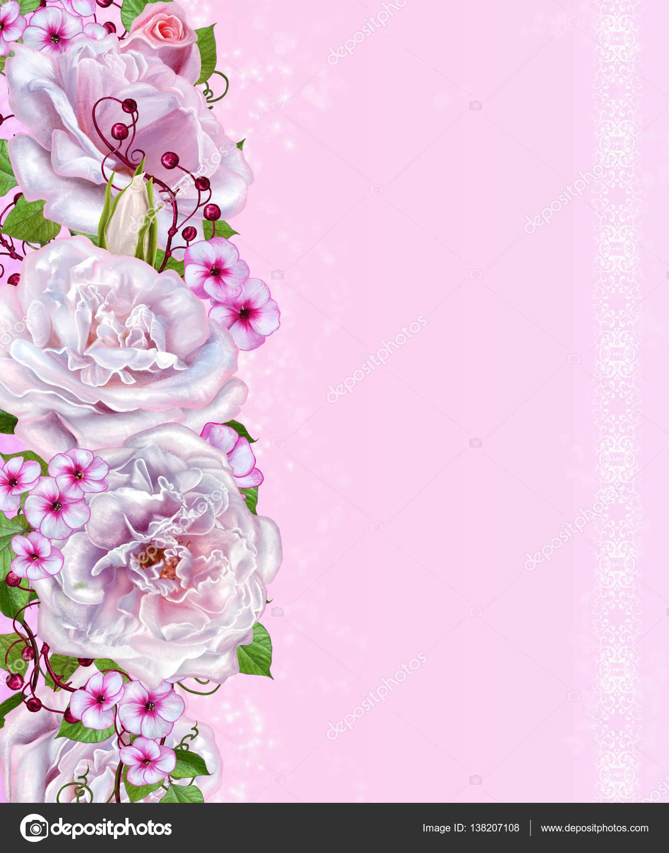 Фон розы нежный
