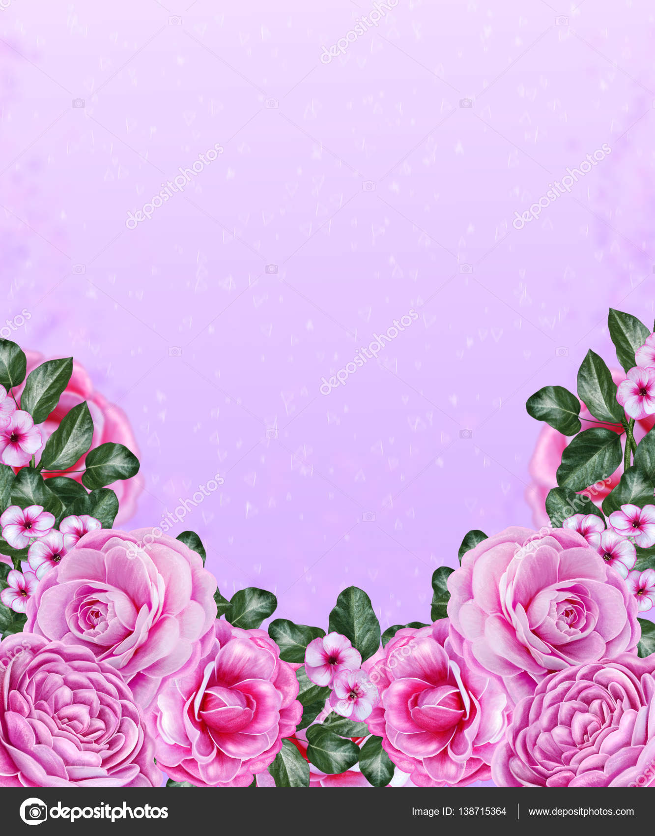 Floral Background Pink Pastel Colors The Composition Of Delicate