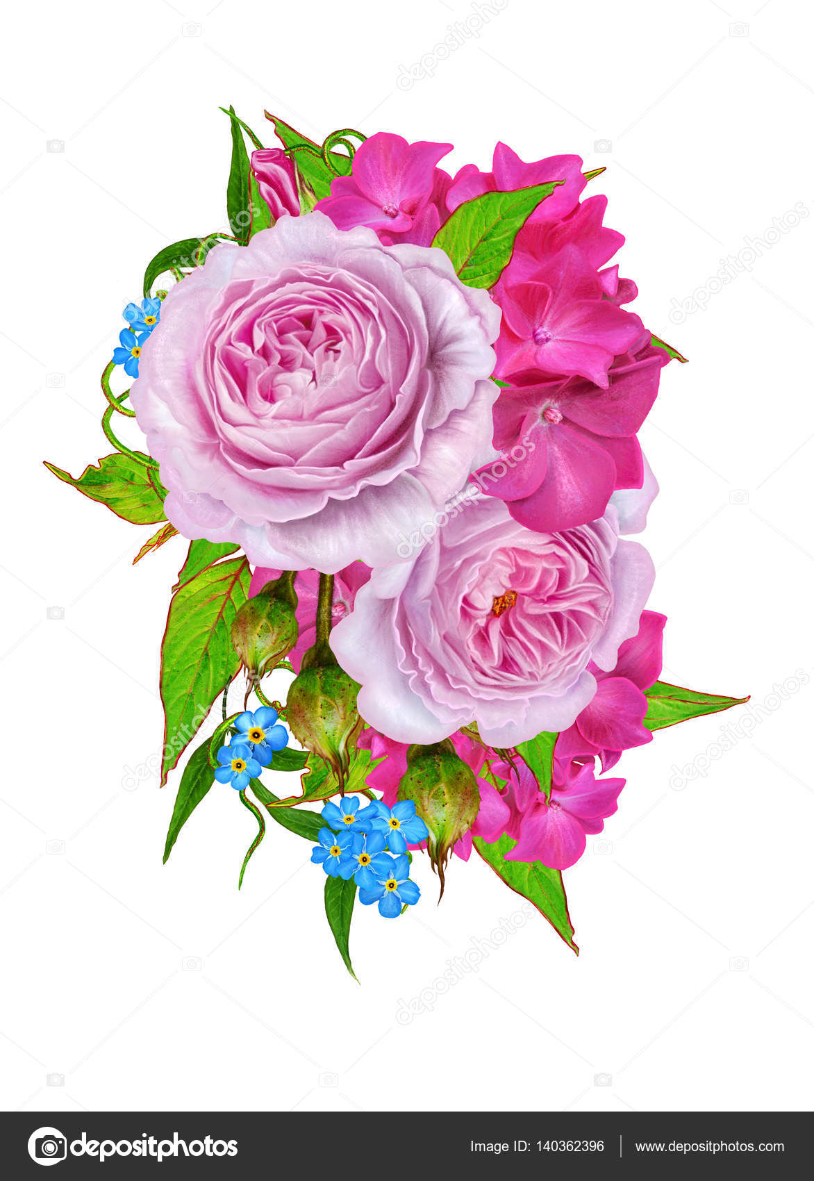Flower Composition Bouquet Delicate Pink Roses Bright Beautiful