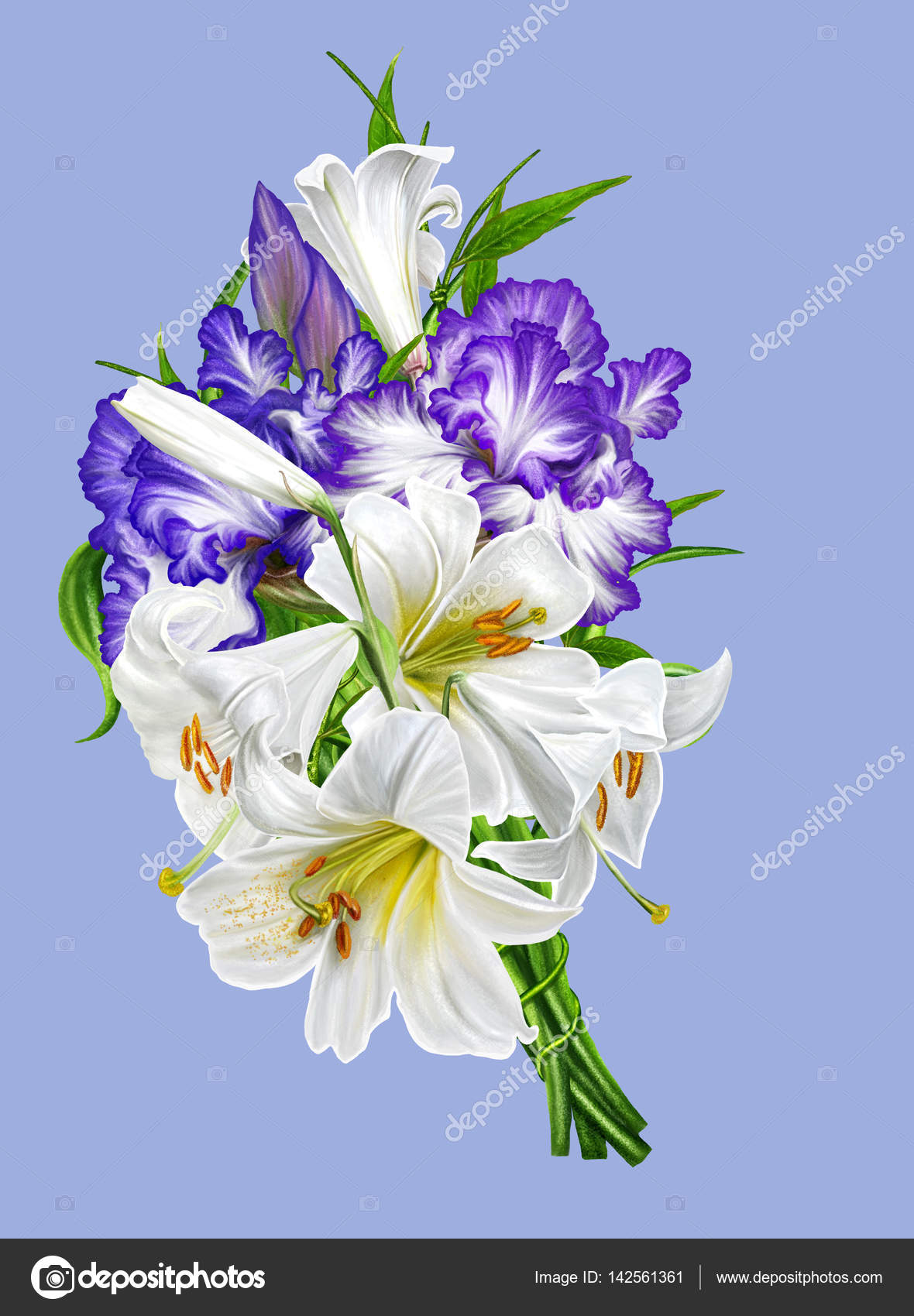 how to make a bouquet for a wedding sfondo floreale bouquet di gigli bianchi e iris viola e 4940